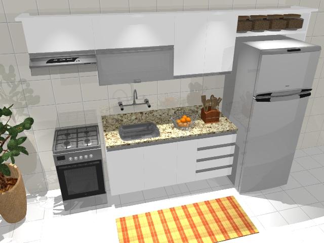 Cozinha linear - estudo preliminar 2 Estudos p/ uma ...