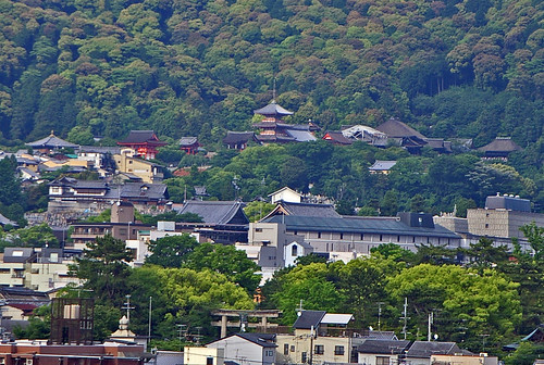 Kiyomizu-dera from K's House roof 京都 | by Anaguma