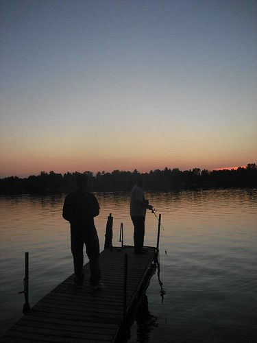 Sunset fishing on sweezy lake norvell michigan bass for Pure fishing jobs