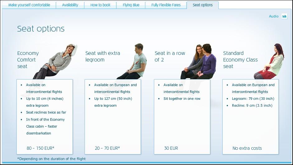 Klm Economy Class Seat Options Www Havayolu101 Com 2010
