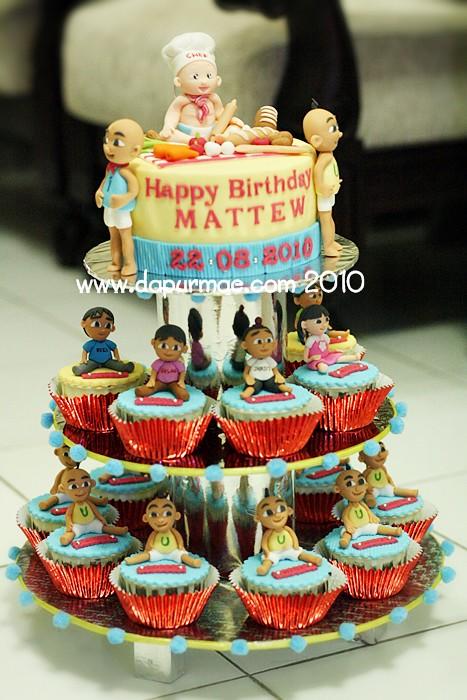 Upin Ipin Birthday Cake Set dapurMaecom Flickr