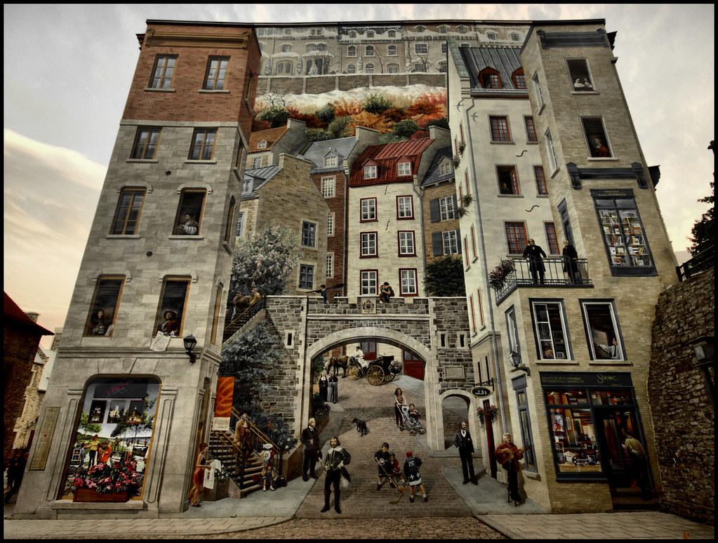 Quebec city mural narasimman jayaraman flickr for Mural quebec city