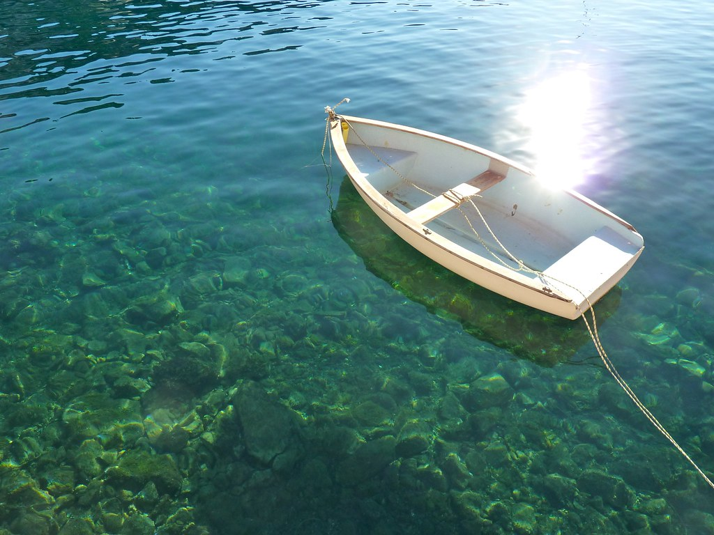 White Rowboat, Clear Water, Villefranche, France | Mark ...
