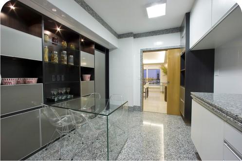 Cozinha com piso de granito cinza corumba piso de for Modelos de pisos de granito