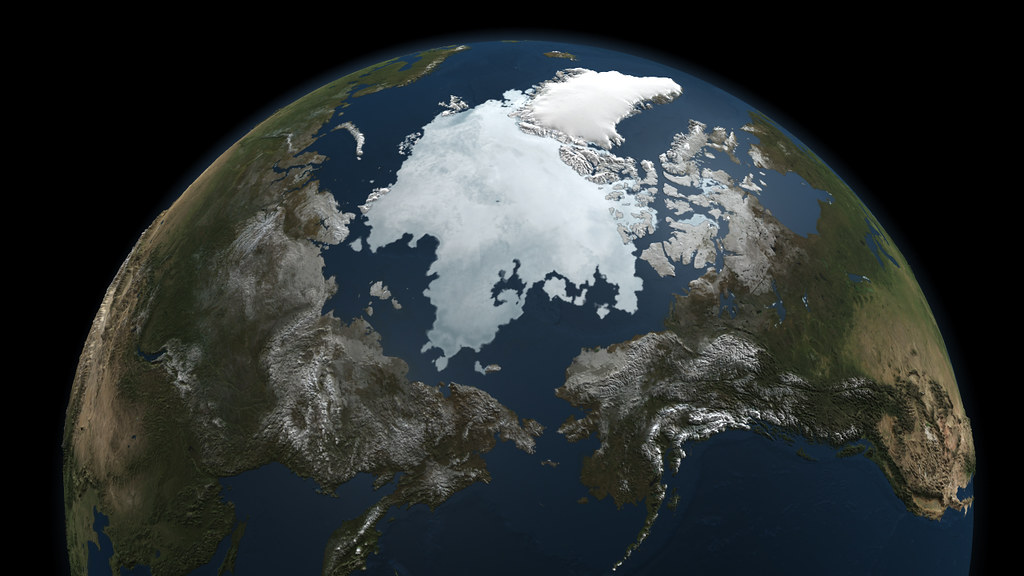 A Snapshot Of Sea Ice NASA Image Release September Flickr - World map satellite view video