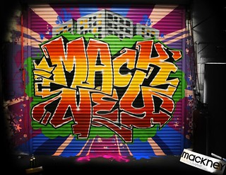 London Graffiti Artist Tagging the Mackney Studio | by mackney photography