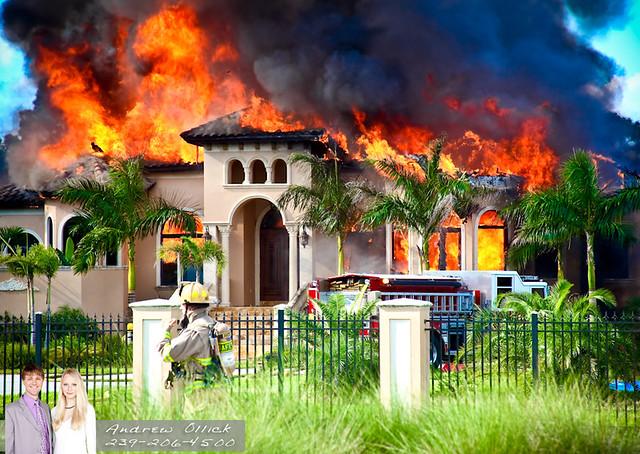 Golden Gate Estates Luxury Home On Fire Flickr Photo