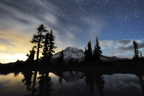A Night at Mt. Rainier - Part 11 - 1:01am | by David M Hogan