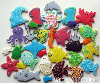 "Ethan's 1st Birthday! ""Under the Sea"" Platter Singles 