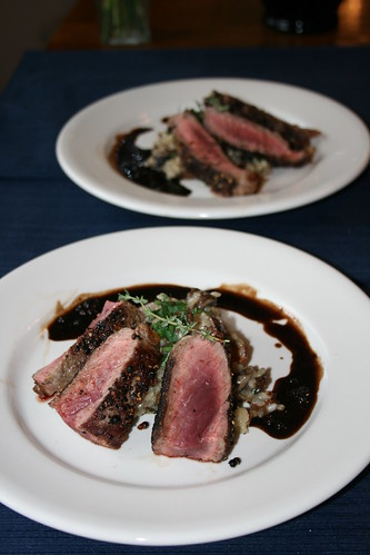 Rib Eye Steak Au Poivre with Balsamic Reduction | Rib Eye ...