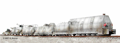ModelCrafters WWII German Armored Train_BP42, Russian Eastern Front, Winter 1942, 5 Car Set | by modelcrafters@yahoo.com