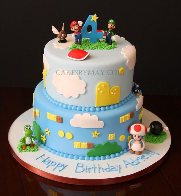 Mario Brother Cake Images : Mario Bros. Birthday Cake Mushroom character, turtle ...