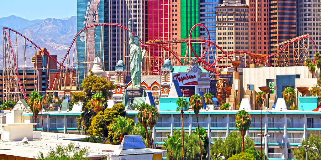 vegas casino roller coaster