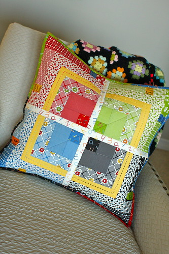 That's the Ticket Pillow- a Moda Bakeshop Tutorial! :) | by scrapstudio