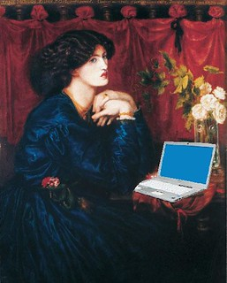Jane Morris Blogging, after Dante Gabriel Rossetti | by Mike Licht, NotionsCapital.com