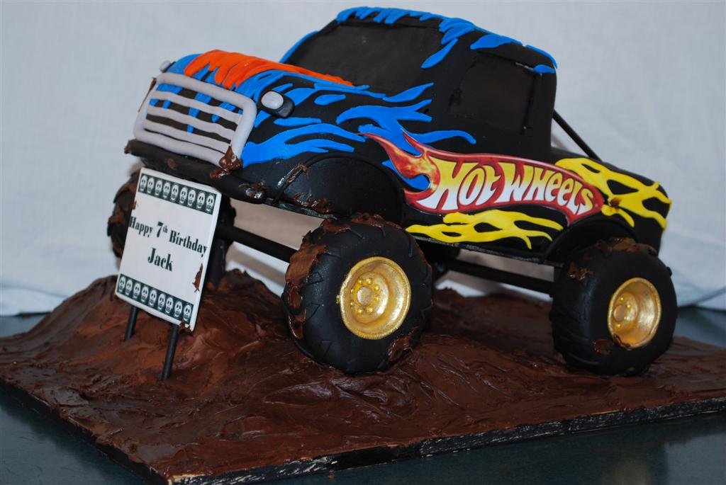 Truck Template For Cake