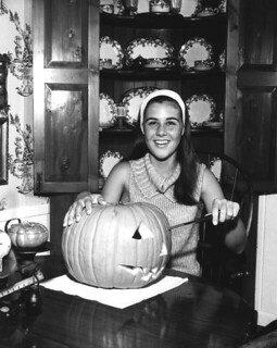 Pine Crest School student carving a Halloween pumpkin: Fort Lauderdale, Florida | by State Library and Archives of Florida