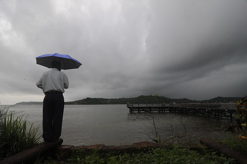 River Mandovi and the Sea at Panjim Goa - It is Monsoon Time | by Anoop Negi