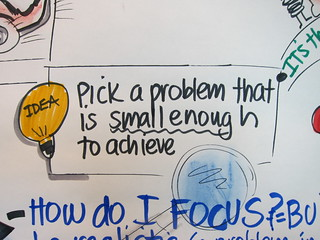 """Pick a problem that is small enough to achieve"" 