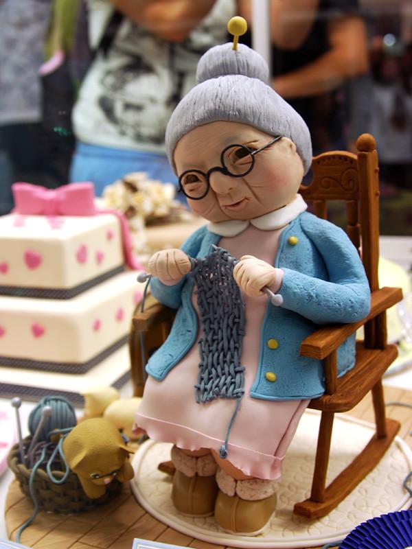 Knitting Granny Cake Cake Decorating Display At The