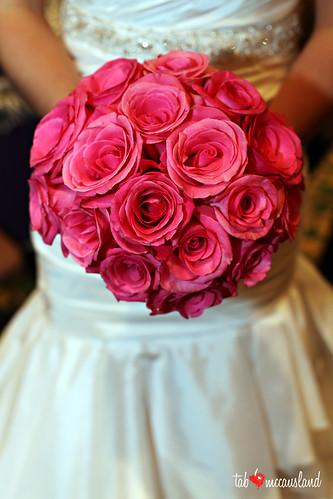 orlando hot pink rose bridal bouquet orlando hot pink flickr. Black Bedroom Furniture Sets. Home Design Ideas