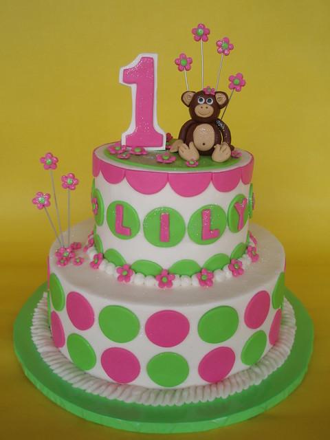 Birthday Cake Images For Small Girl : Little Girl Mod Monkey 1st Birthday Cake Flickr - Photo ...