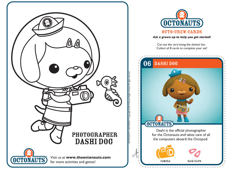 Dashi Dog | Example of the printable octonauts page you can … | Flickr