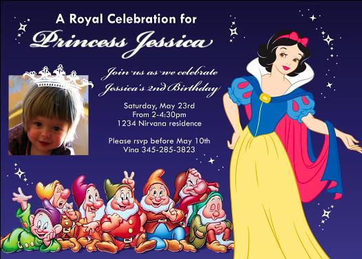 Snow White Seven Dwarfs Disney Princess- Custom Birthday I ...
