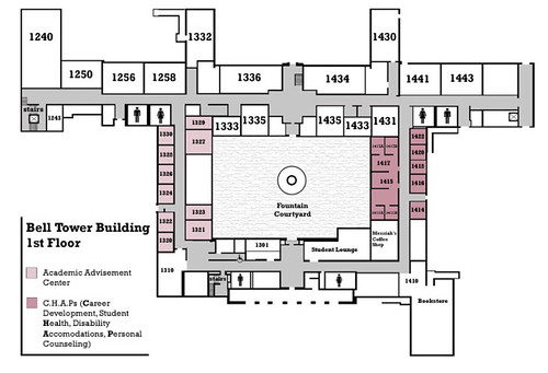 2002 Map of Belltower Building | by California State University Channel Islands