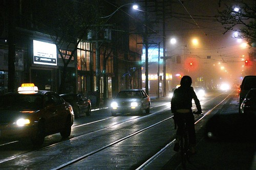 Cycling in Rain and Fog | by Roger Cullman