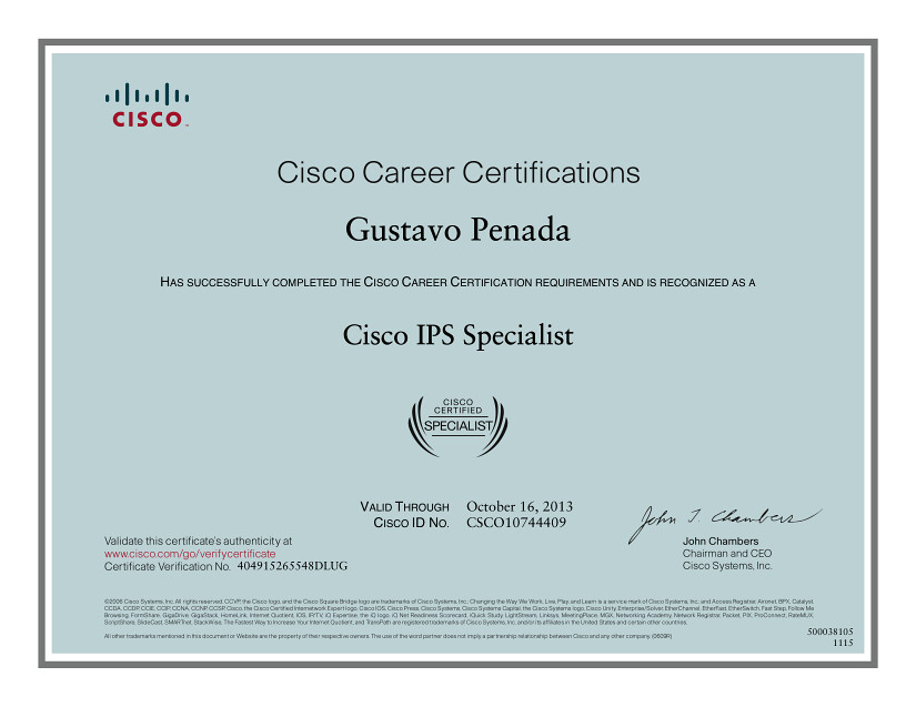 Cisco Ips Specialist Certificate Certificazione Cisco Ips Flickr