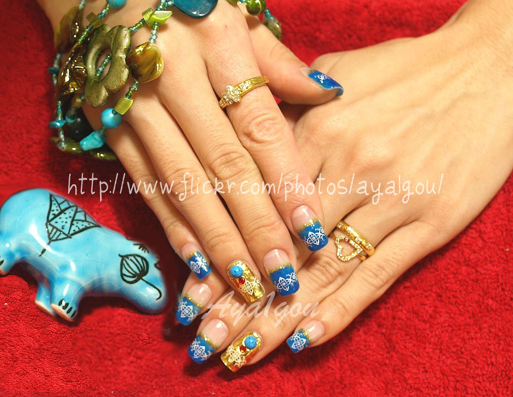 Exotic nail art | My own nails Base gel Colored gel Glitter … | Flickr