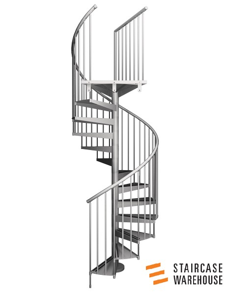 Front Elevation Of Spiral Staircase : F spiral staircase full elevation picture of a