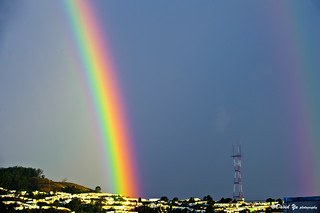 San Francisco lucky double rainbow | by davidyuweb