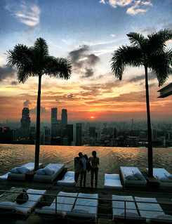 Infinity Pool in Singapore at Sunset | by ` Toshio '