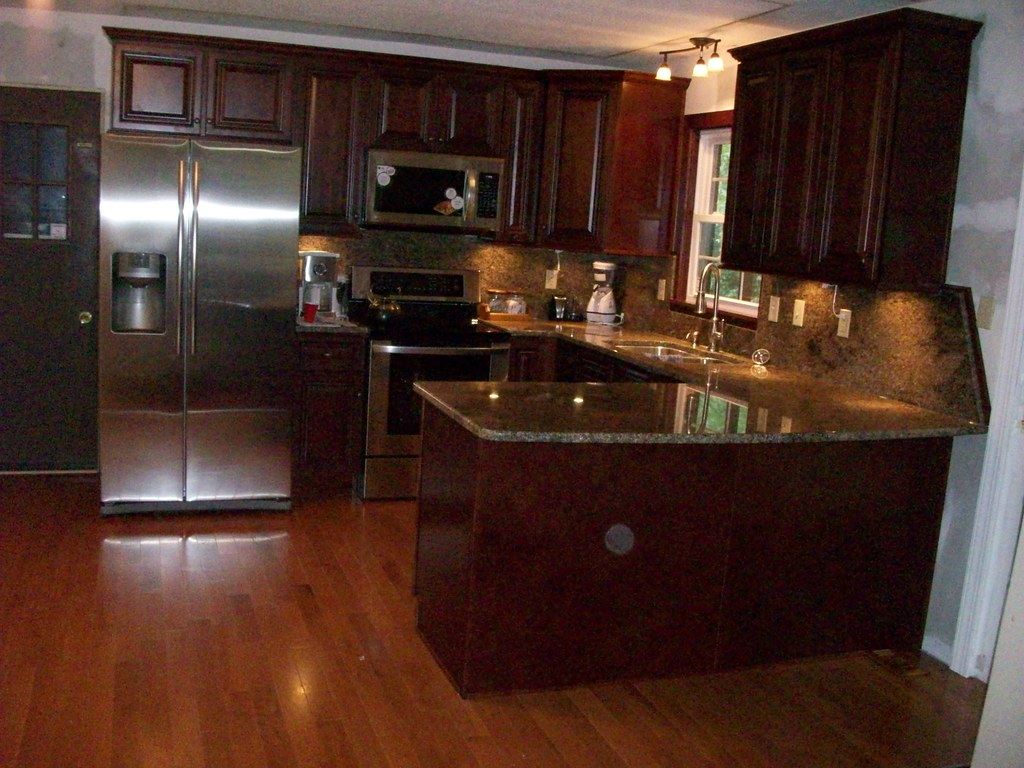 Close Up Kitchen Cabinets High End