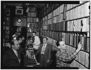 [Portrait of Milt Gabler, Herbie Hill, Lou Blum, and Jack Crystal, Commodore Record Shop, New York, N.Y., ca. Aug. 1947] (LOC) | by The Library of Congress