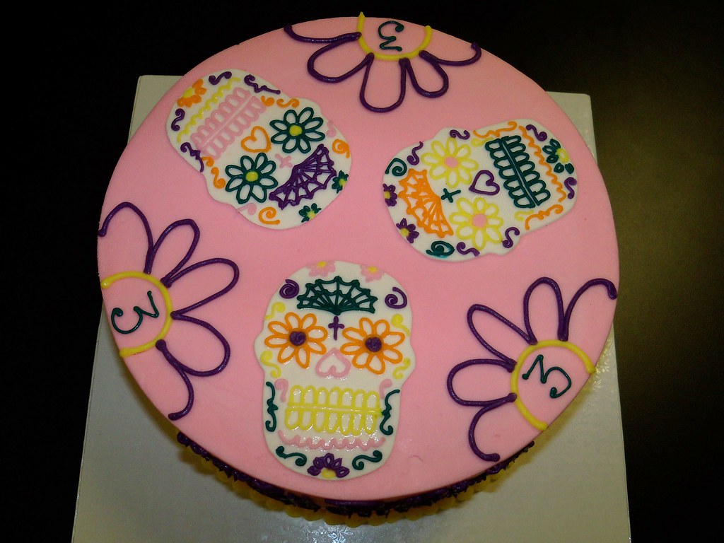 Pink Day Of The Dead Birthday Cake Email Brianretrobakery Flickr