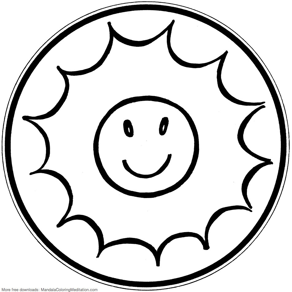 toddler sun mandala coloring pages - photo#5