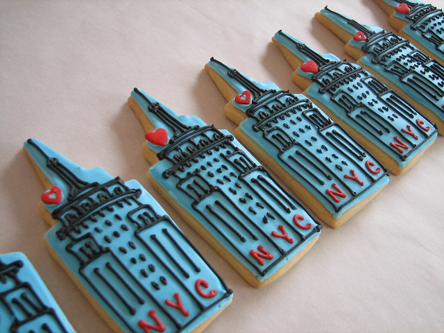 Empire State Building Cookie Favors Flickr Photo Sharing