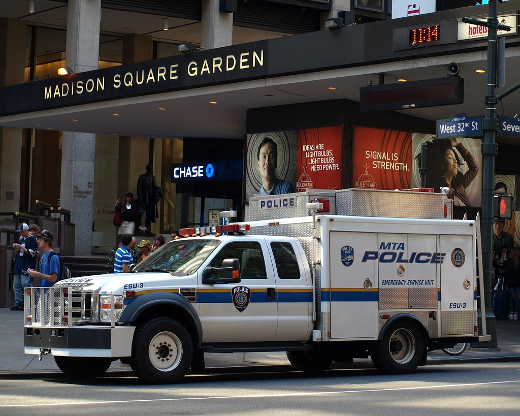 Mta police emergency service unit truck madison square ga flickr for Madison square garden employment