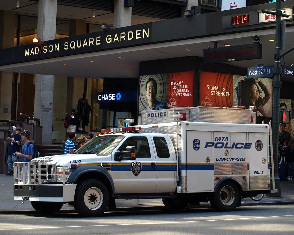 Mta Police Emergency Service Unit Truck Madison Square Ga