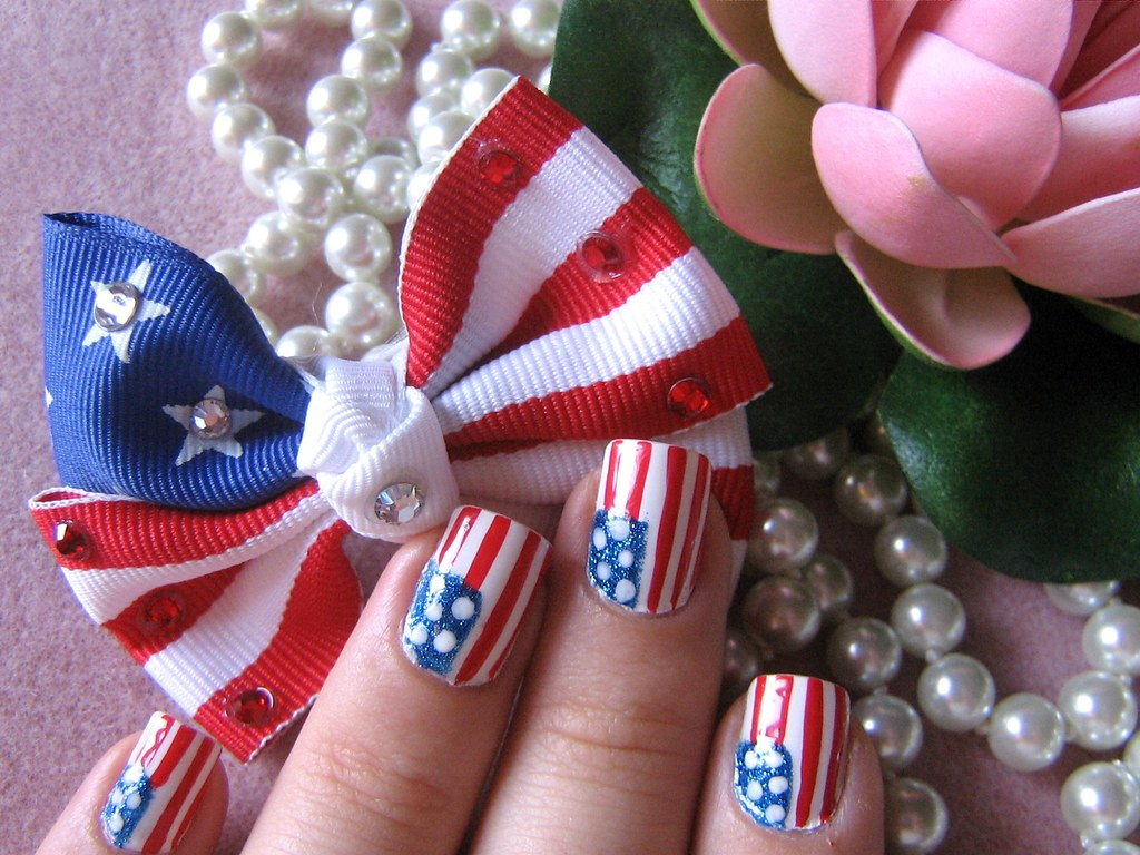 Usa Flag Nail Art Because September 11 Was A Punch In The Flickr