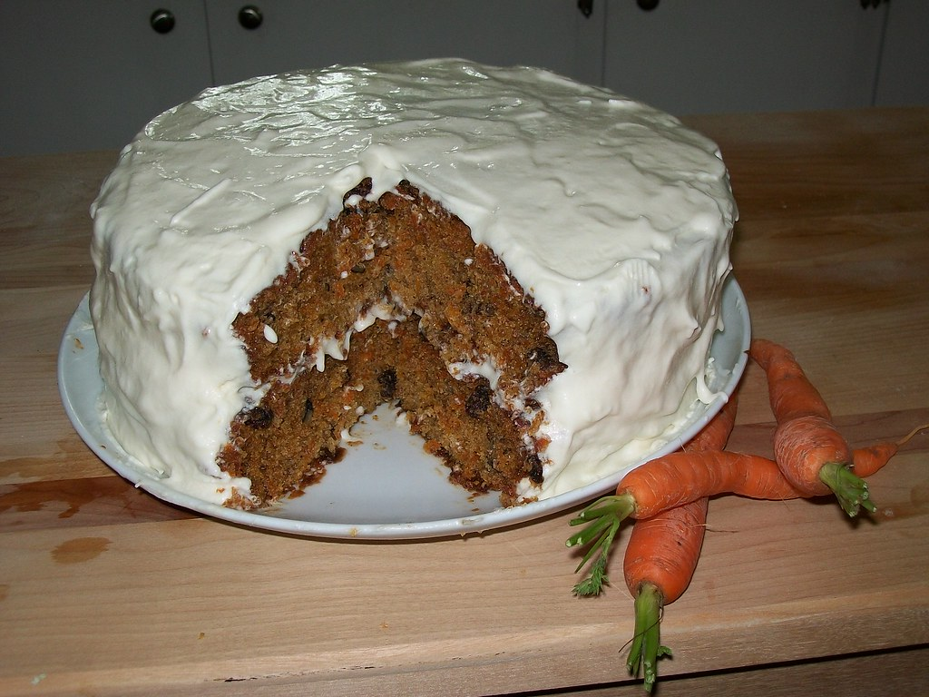 Carrot Cake Made With Oat Flour
