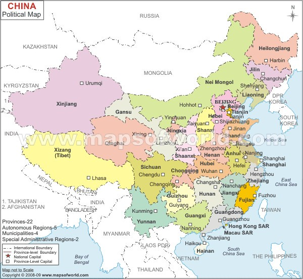 China Map | www.mapsofworld.com/china/china-political-map.ht… | Flickr