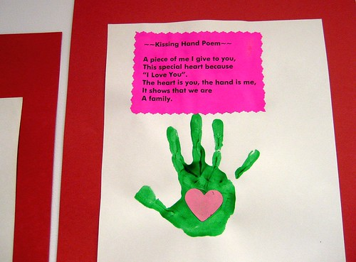 Kissing Hand Poem Love From Our Pre Schoolers
