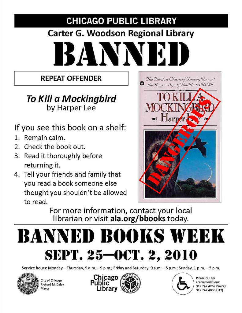 censored book reflection to kill a The following books may seem quite harmless to most, but they still made it onto  a banned books list.