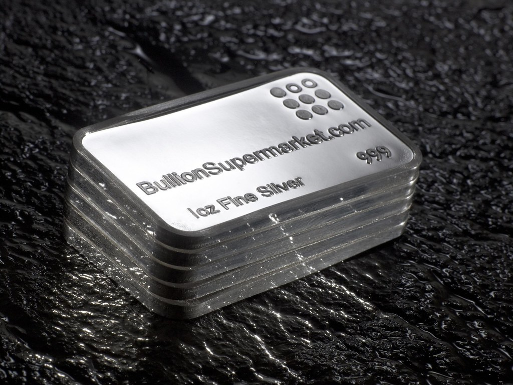 Silver 1 Troy Ounce Bullion Bars 999 Fine Silver X 5 Ounce