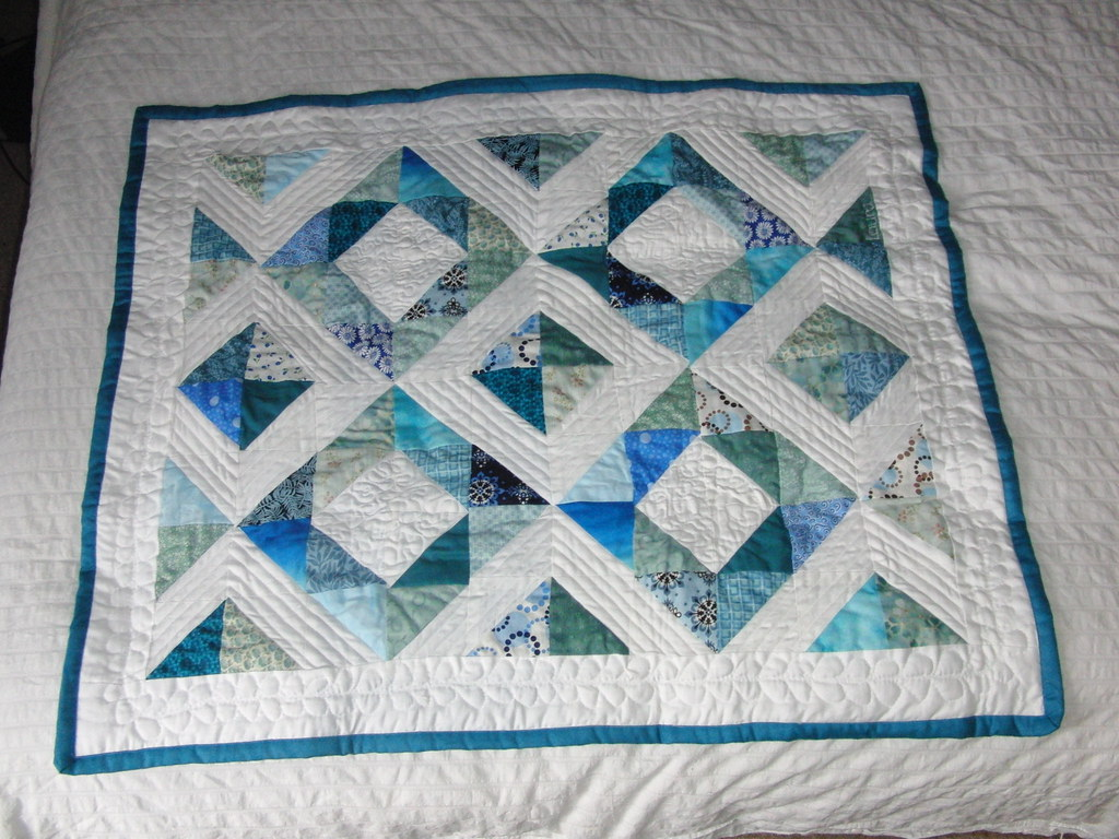 Half Square Triangle Baby Quilt Laura Taylor Flickr