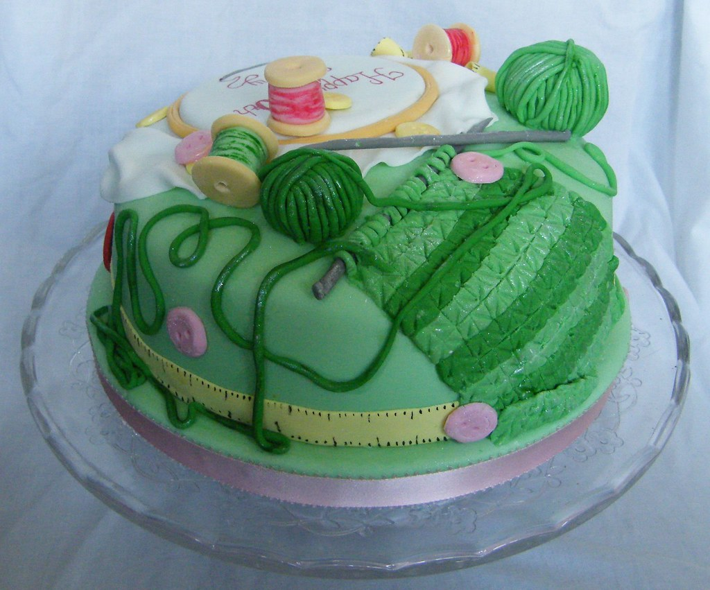 Knitting Cakes Images : Sewing and knitting cake everything is completely edible ou flickr